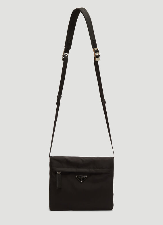 bdb80482c7f0e6 Prada Nylon Messenger Bag in Black | LN-CC