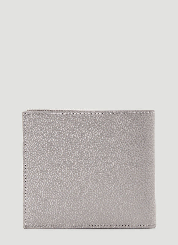 Thom Browne BILLFOLD W/ RWB DIAGONAL EMBROIDERY IN PEBBLE GRAIN LEATHER 3