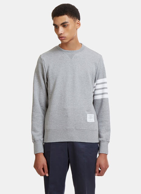 Thom Browne 4 Bar Crew Neck Sweater
