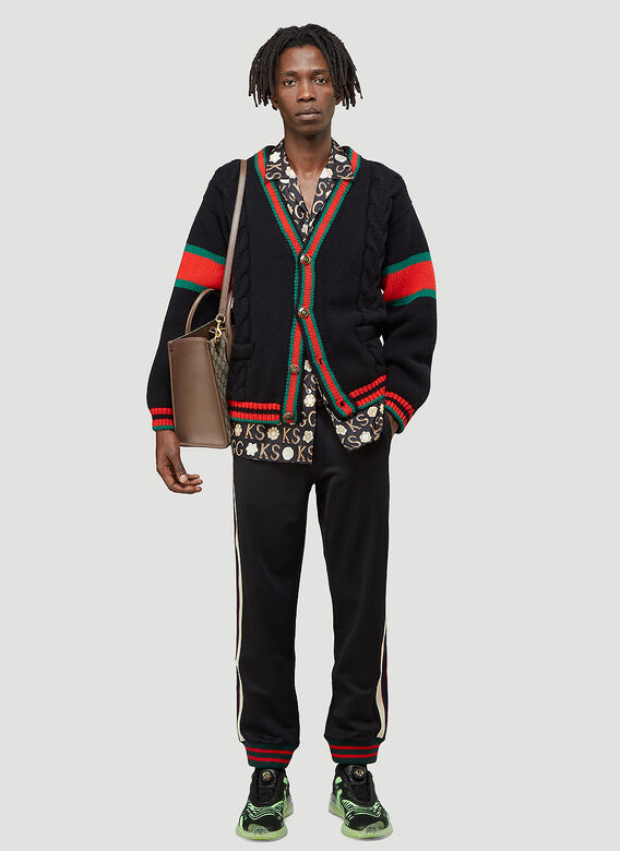 Gucci Oversized Cable-Knit Cardigan 2