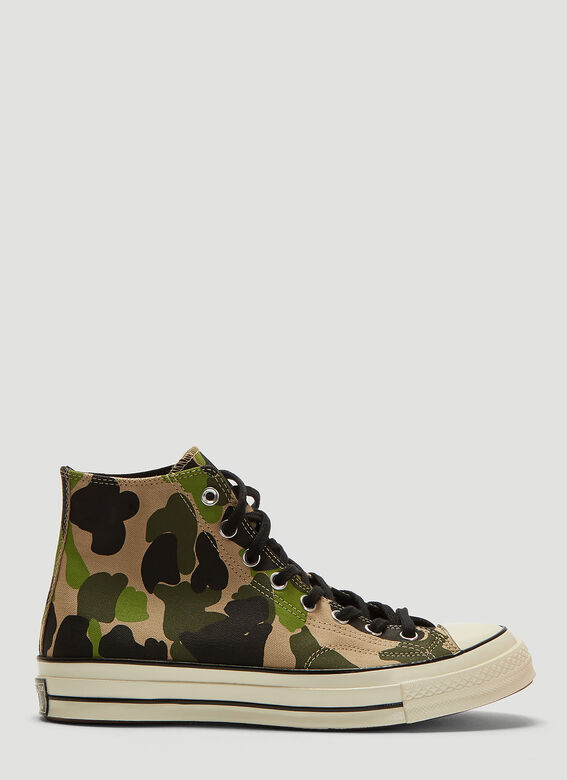 38d3fbdee630bc High Chuck Taylor 1970s Camo Print All Star Sneakers in Green