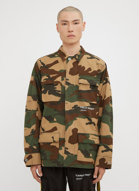 Off-White Oversized Camo Cotton Field Jacket