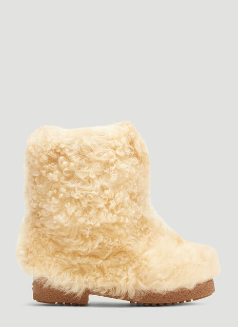 Saint Laurent Furry Snow Boots