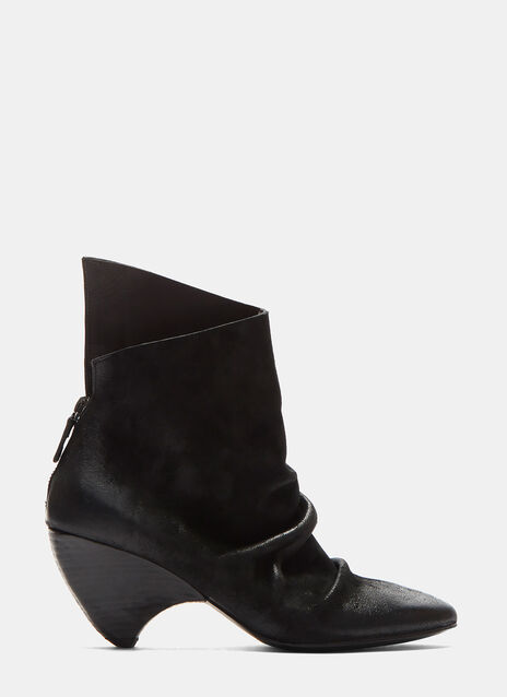 Marsèll Suede Curved Heel Ankle Boots