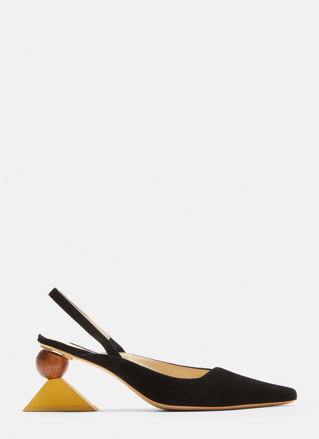 Jacquemus Pointed Suede Mules
