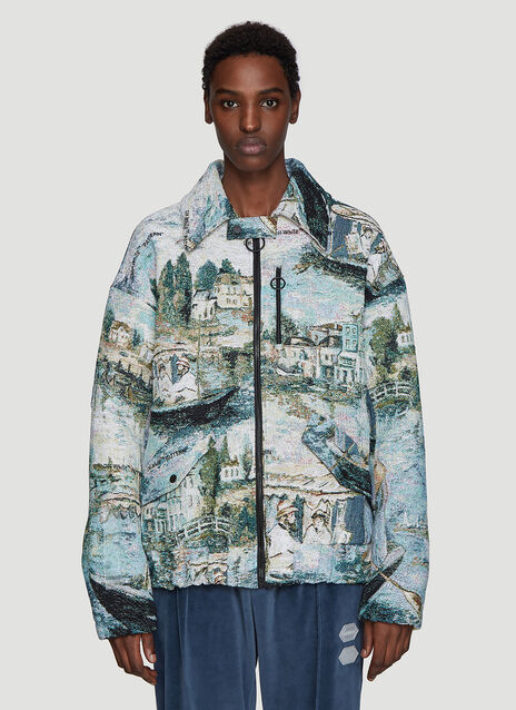Off-White Lake Jacquard Bomber Jacket