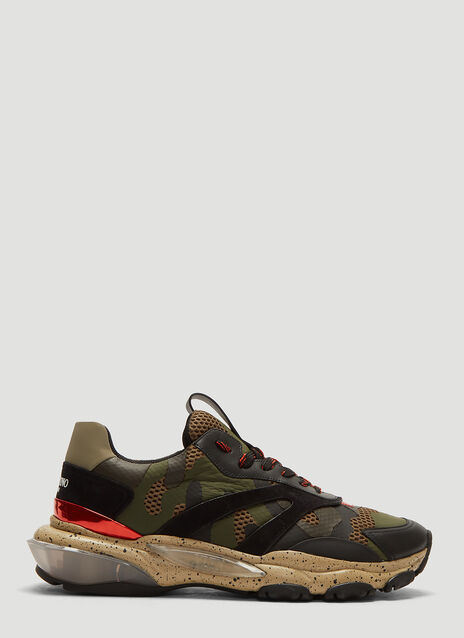 Valentino Camouflage Bounce Sneakers