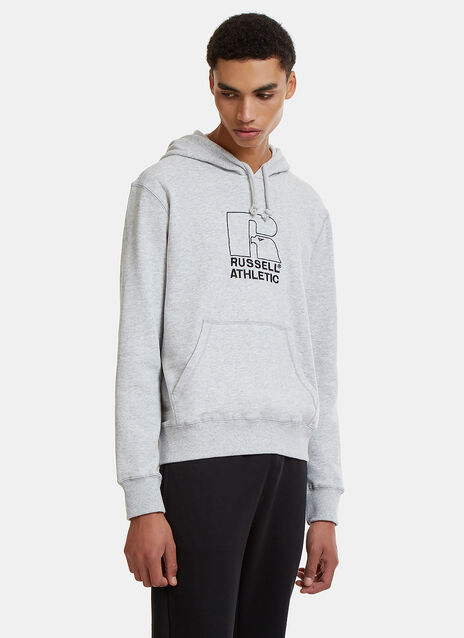 Embroidered Logo Hooded Sweater