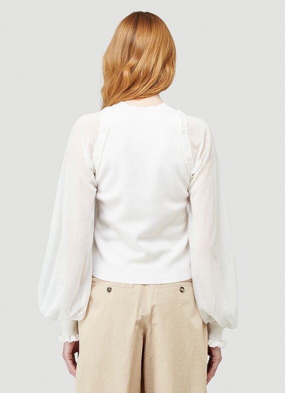 JW Anderson DETACHABLE SHEER SLEEVE FITTED TOP 4