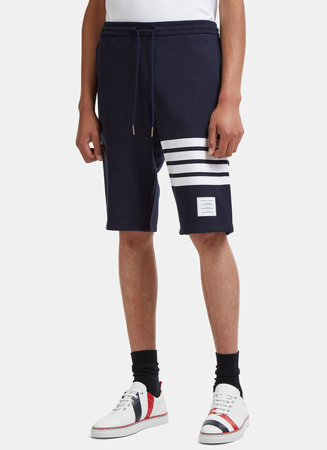 Thom Browne 4 Bar Striped Loopback Jersey Shorts