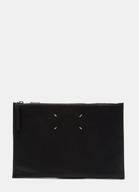 Touch Fastened Leather Pouch