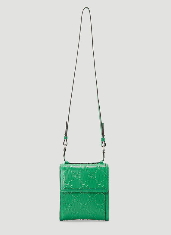 Gucci Perforated-Leather Crossbody Bag 1