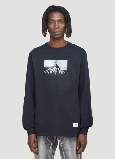 Pressure Photographic Print Long-Sleeved T-Shirt