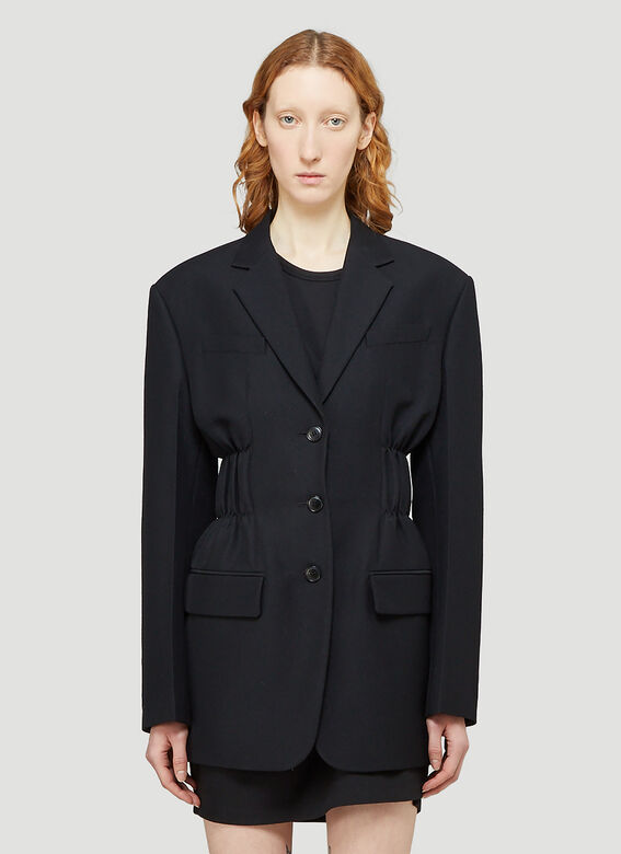 Alexander Wang FITTED SINGLE BREASTED BLAZER W/ CINCHED WAISTLINE 1
