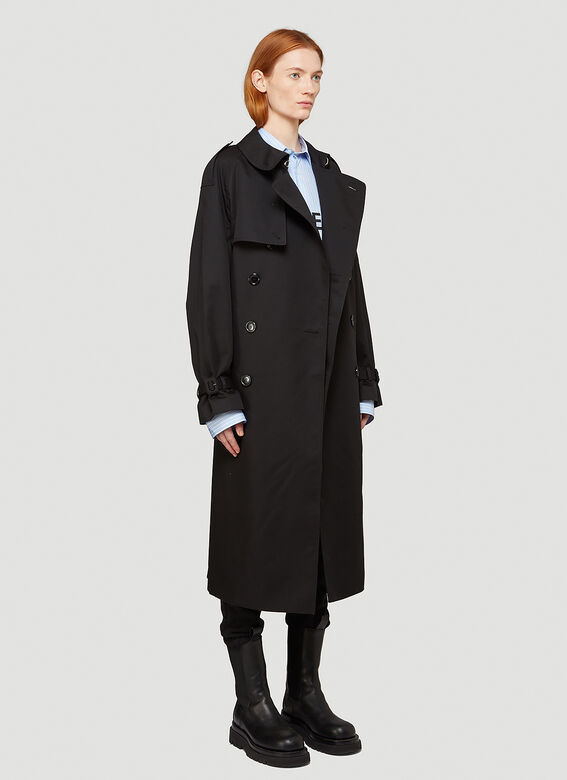 Vetements Logo-Patch Trench Coat 2