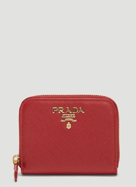 Prada Saffiano Zip-around Wallet