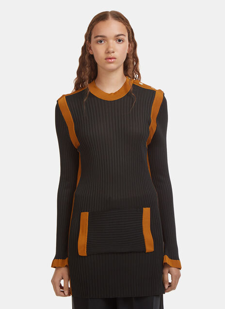 Wales Bonner Paris Ribbed Knit Sweater