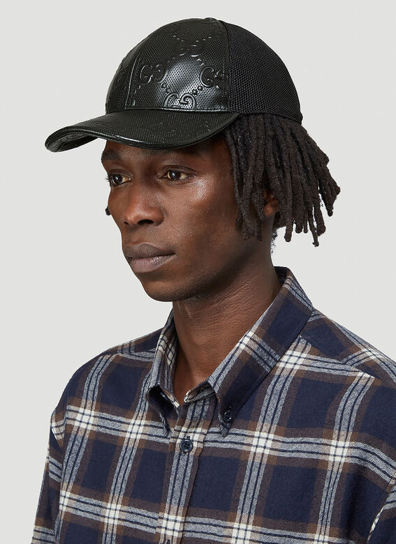 Gucci OVERSIZED EMBOSSED GG TENNIS TRUCKER CAP 2