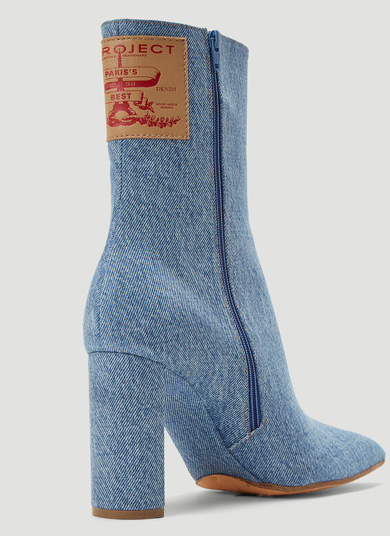 Y/Project Denim Heeled Boots 5