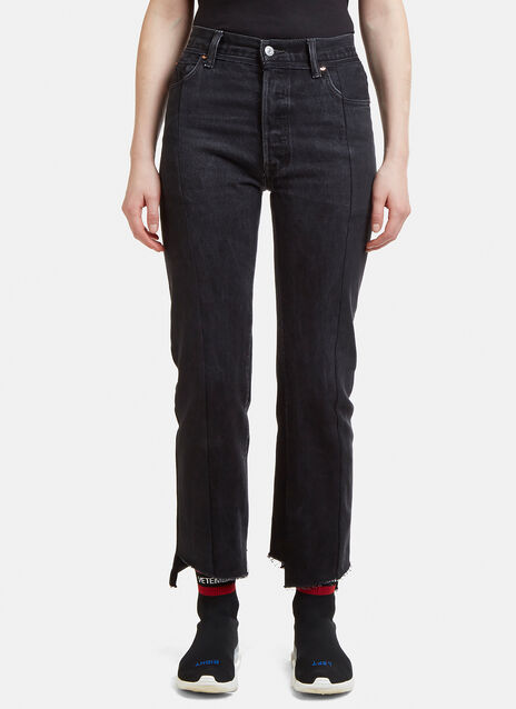 Vetements Re-Worked Straight Leg Denim Jeans