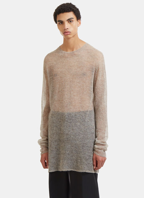 Rick Owens Oversized Mesh Knit Sweater