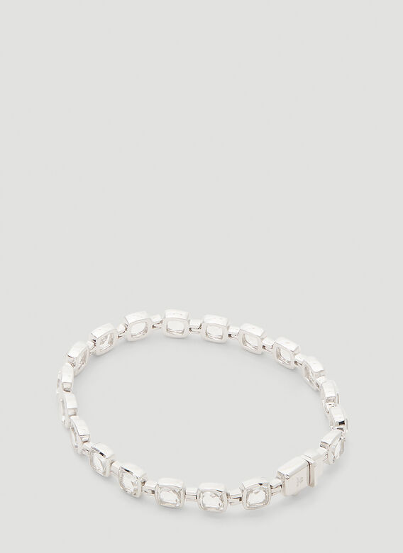 Tom Wood Cushion Rock Crystal Bracelet 3