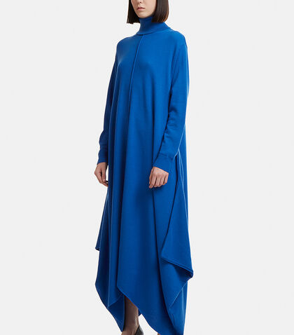 Asymmetrical Roll Neck Hem Dress