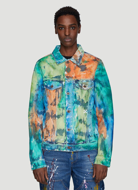 Off-White Multicolour Dye Denim Jacket