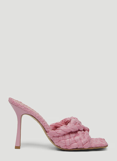 Bottega Veneta Raffia Heeled Sandals