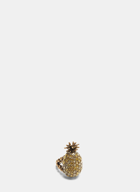 Gucci Crystal-Studded Pineapple Ring