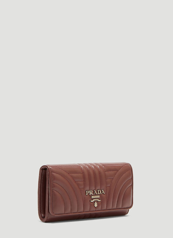 8c4ec6c64 Prada Diagramme Leather Wallet in Burgundy | LN-CC