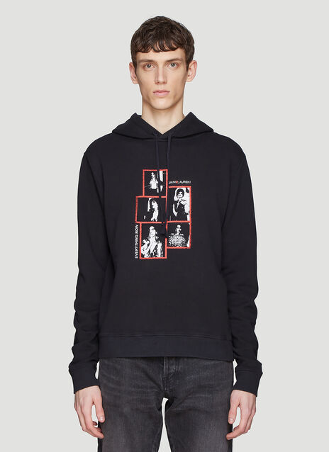 Saint laurent Hooded Photo Print Sweatshirt
