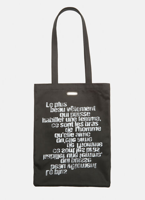 Saint Laurent Black Text Tote
