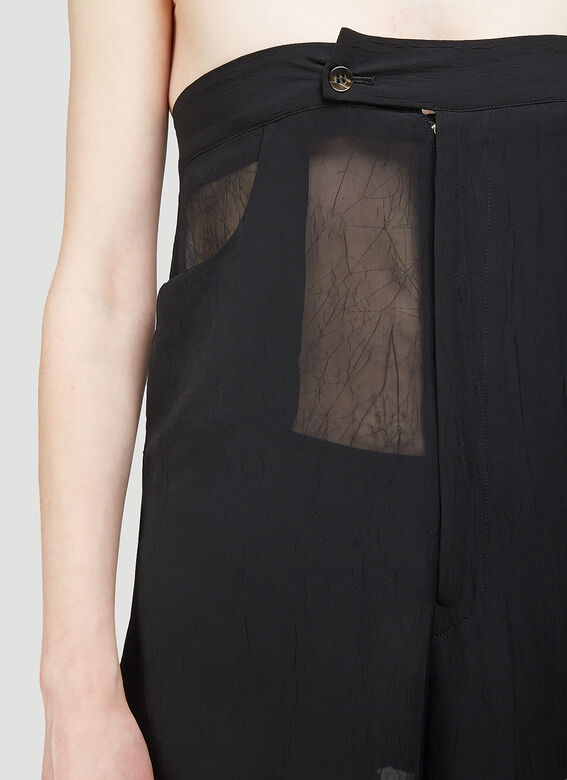 ARO ARCHIVE Sheer Oversized Trousers as Sleeveless Jumpsuit 4