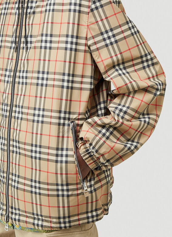 Burberry STRETTON CHK R HOODED JACKET 5