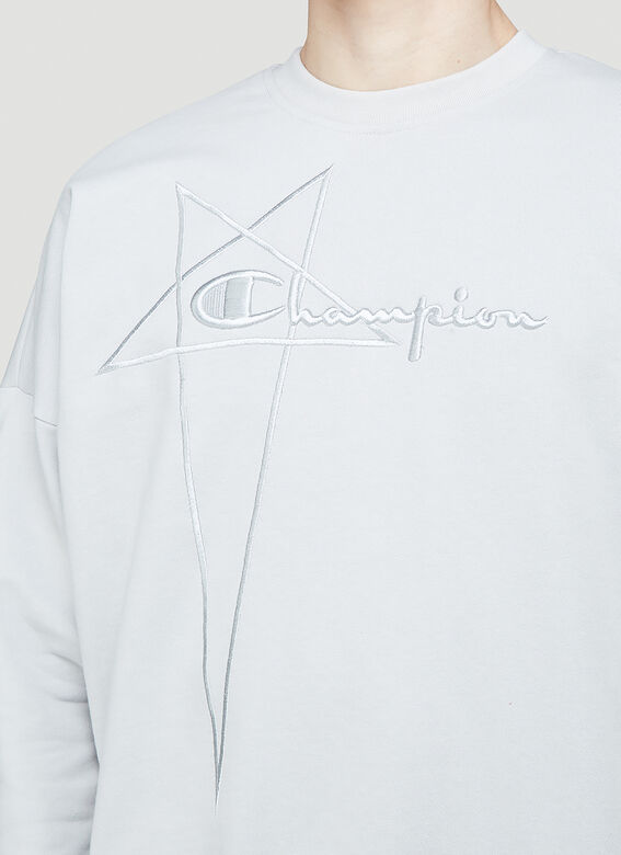 Rick Owens X Champion PULLOVER SWEAT (OYSTER) 5