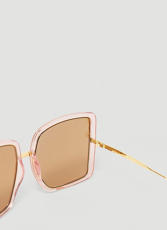 Gucci GG0903S WOMAN SUNGL - pink gold brown 5