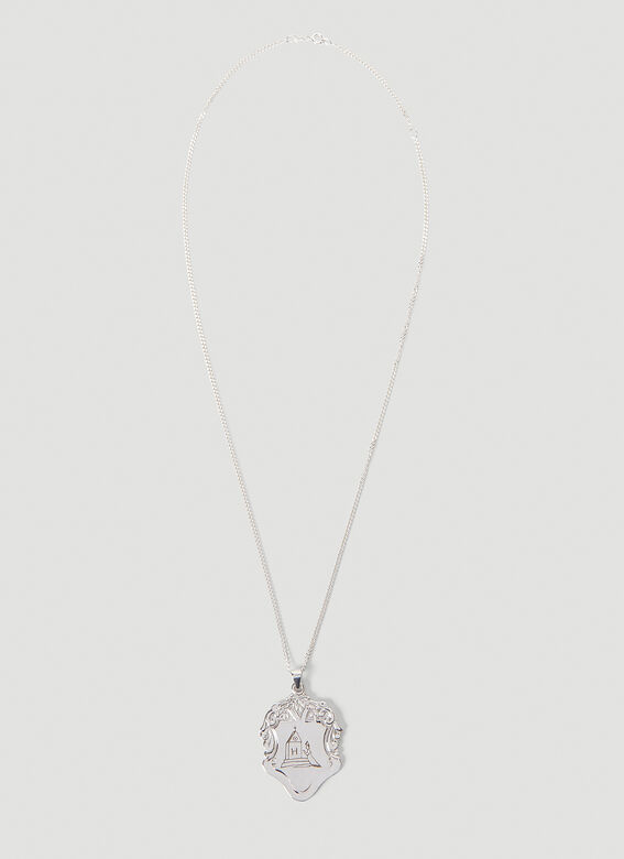 Johnny Hoxton Shield pendant with engraving - Sterling Silver 1