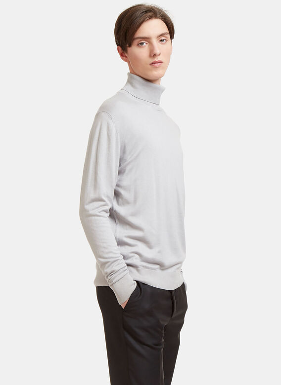 Aiezen Ribbed Roll Neck Sweater 3