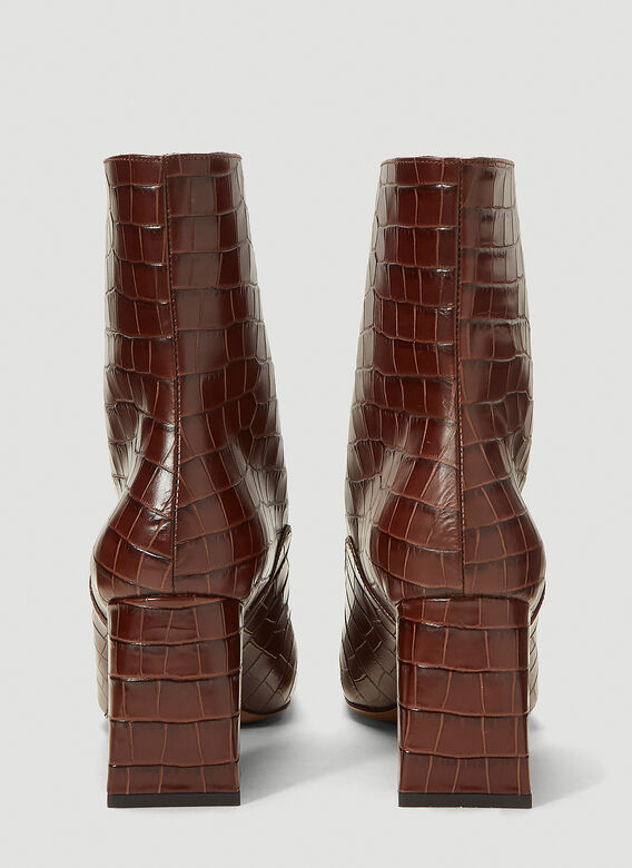 BY FAR Claude Embossed-Leather Boots 4