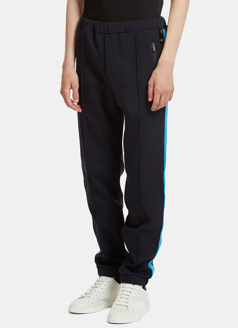 Contrast Panel Technical Jersey Track Pants