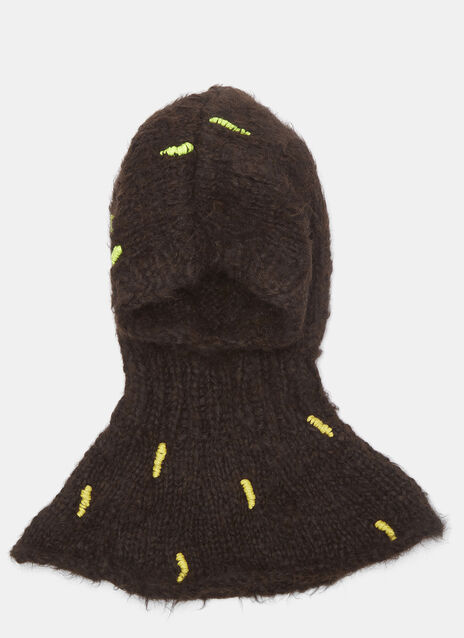 Abstract Hand-Stitched Embroidery Hood