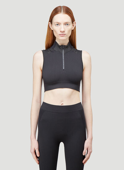 Y-3 Seamless Knit Cropped Top