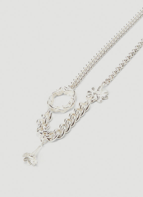 Georgia Kemball Daisy Mixed Curb Link Necklace 3