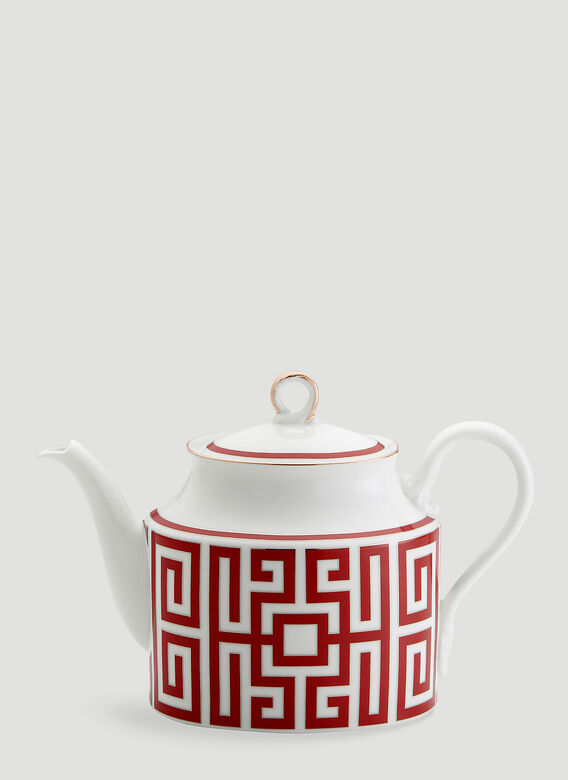 Ginori 1735 Labirinto Teapot With Cover For 6 Lt 0,90 Oz. 30 1/2 Impero Shape 1