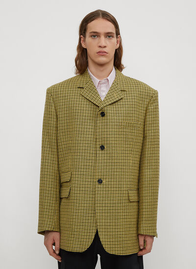 Raf Simons Houndstooth Big Fit Blazer