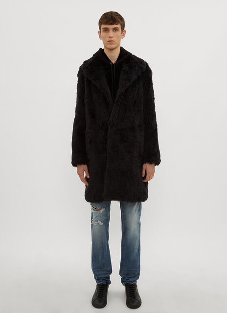 Saint Laurent Oversized Faux Fur Coat