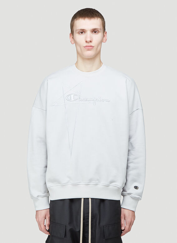 Rick Owens X Champion PULLOVER SWEAT (OYSTER) 1