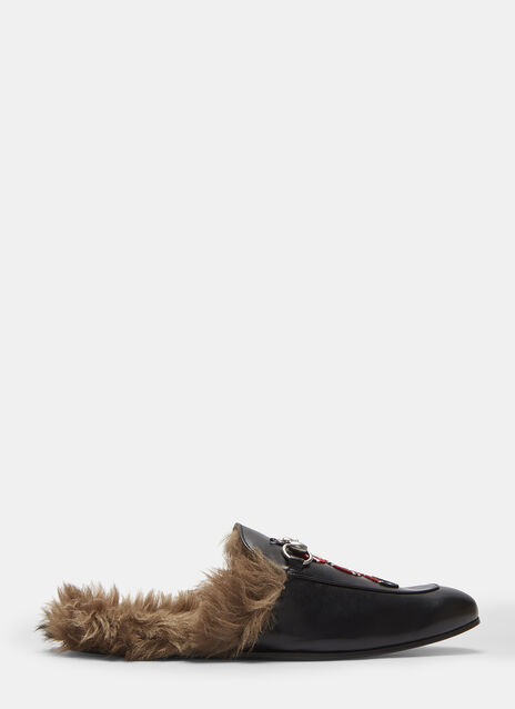 Gucci Princetown Kingsnake Slipper Shoes