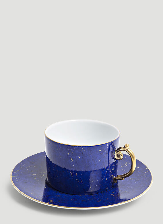 L'Objet Set of Two Lapis Teacup and Saucer 1
